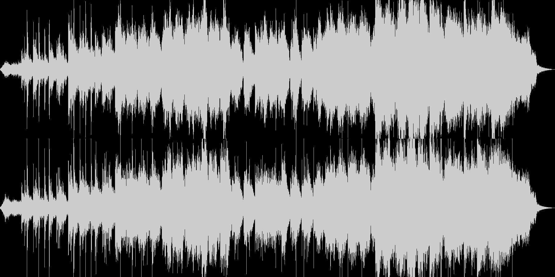 ギターとシンセのノスタルジックなBGMの未再生の波形