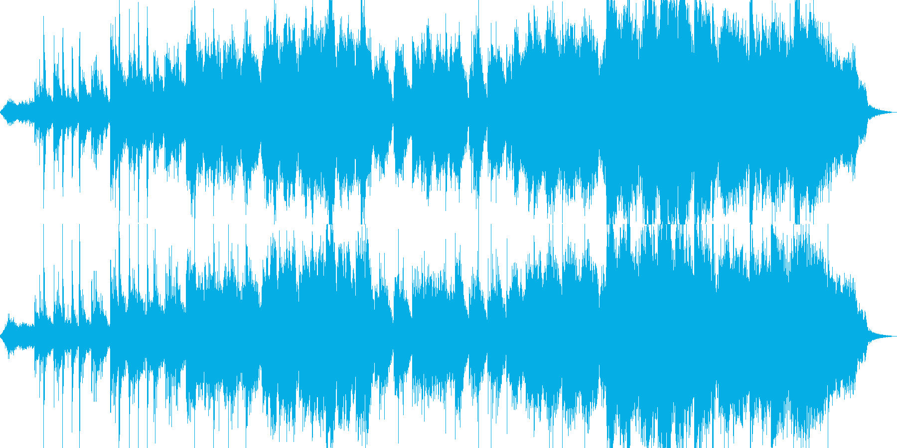 ギターとシンセのノスタルジックなBGMの再生済みの波形