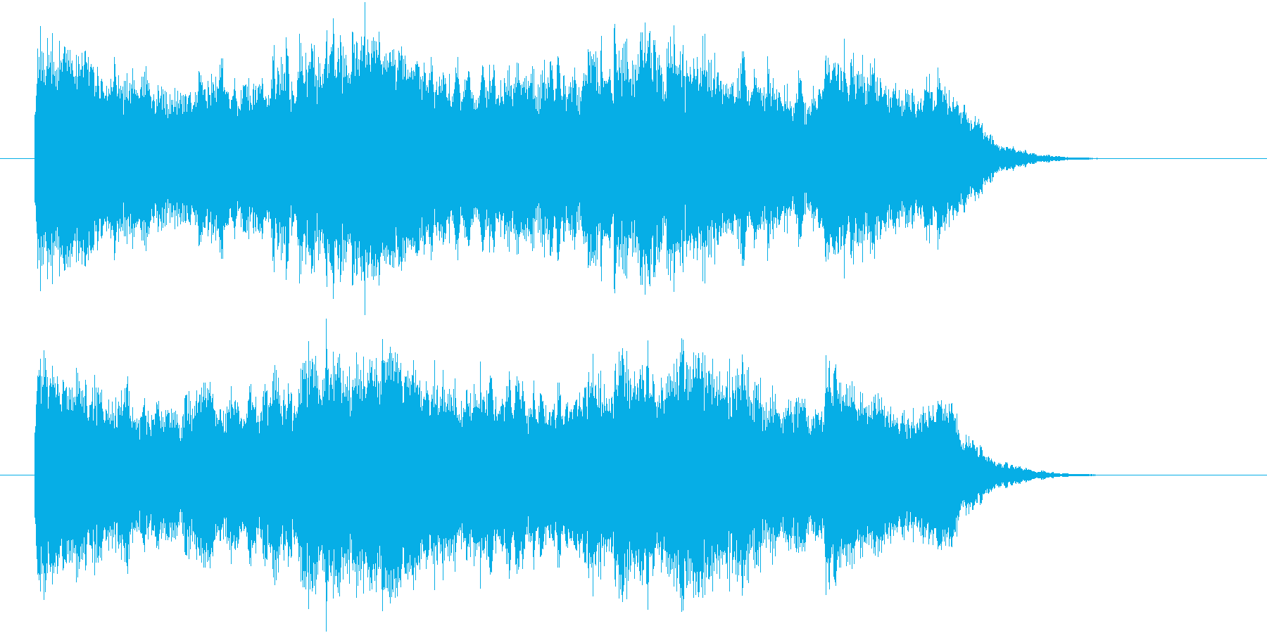 情熱的なストリングスポップスのジングルの再生済みの波形