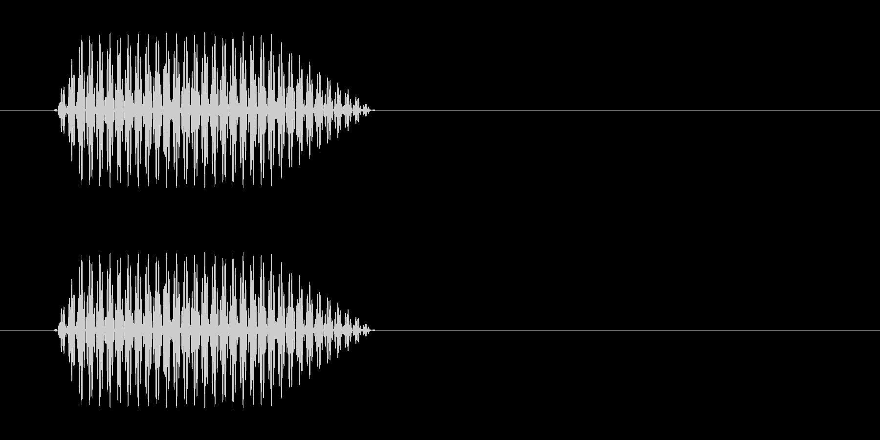 携帯電話などのプッシュ音の未再生の波形