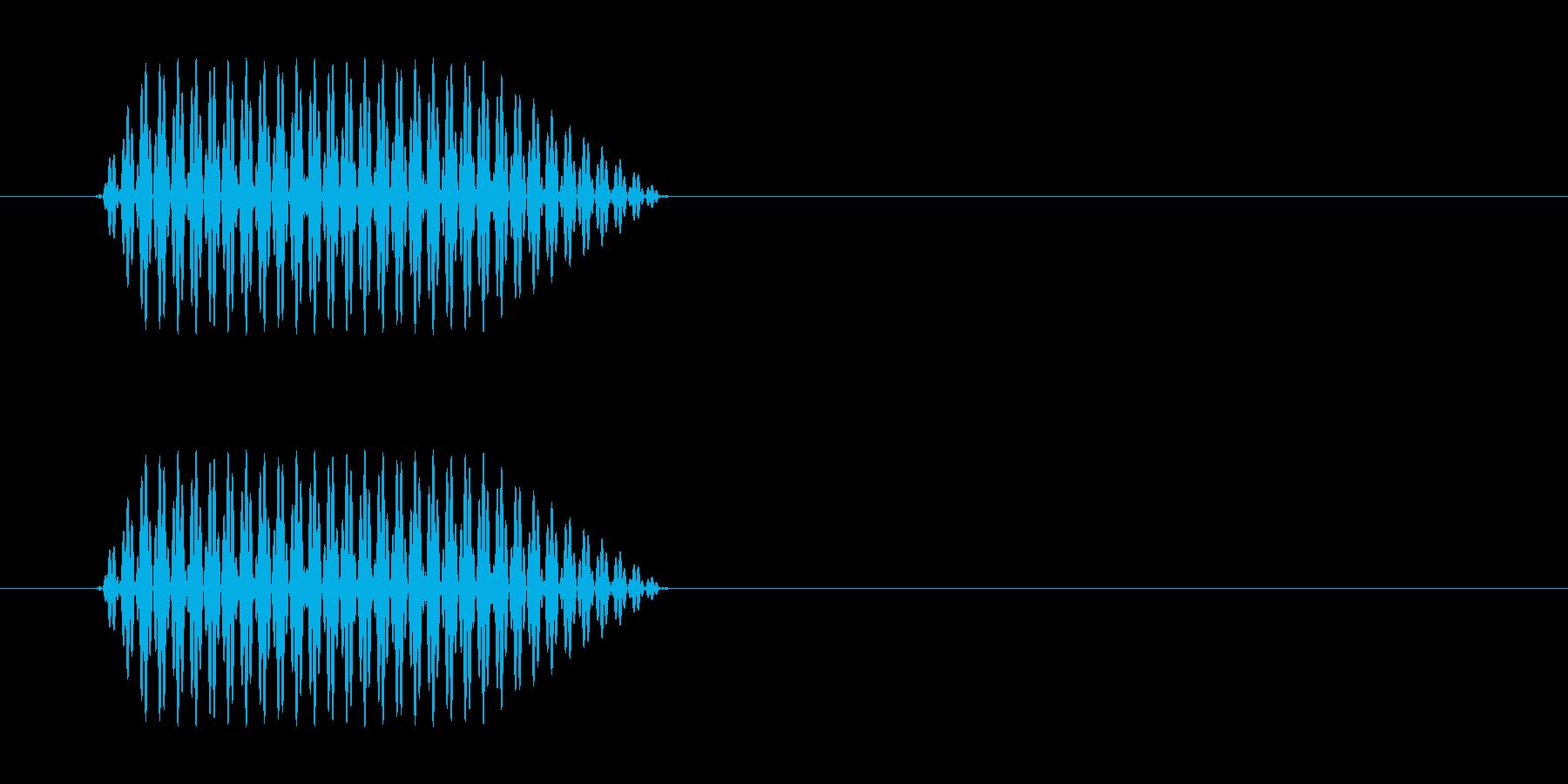 携帯電話などのプッシュ音の再生済みの波形