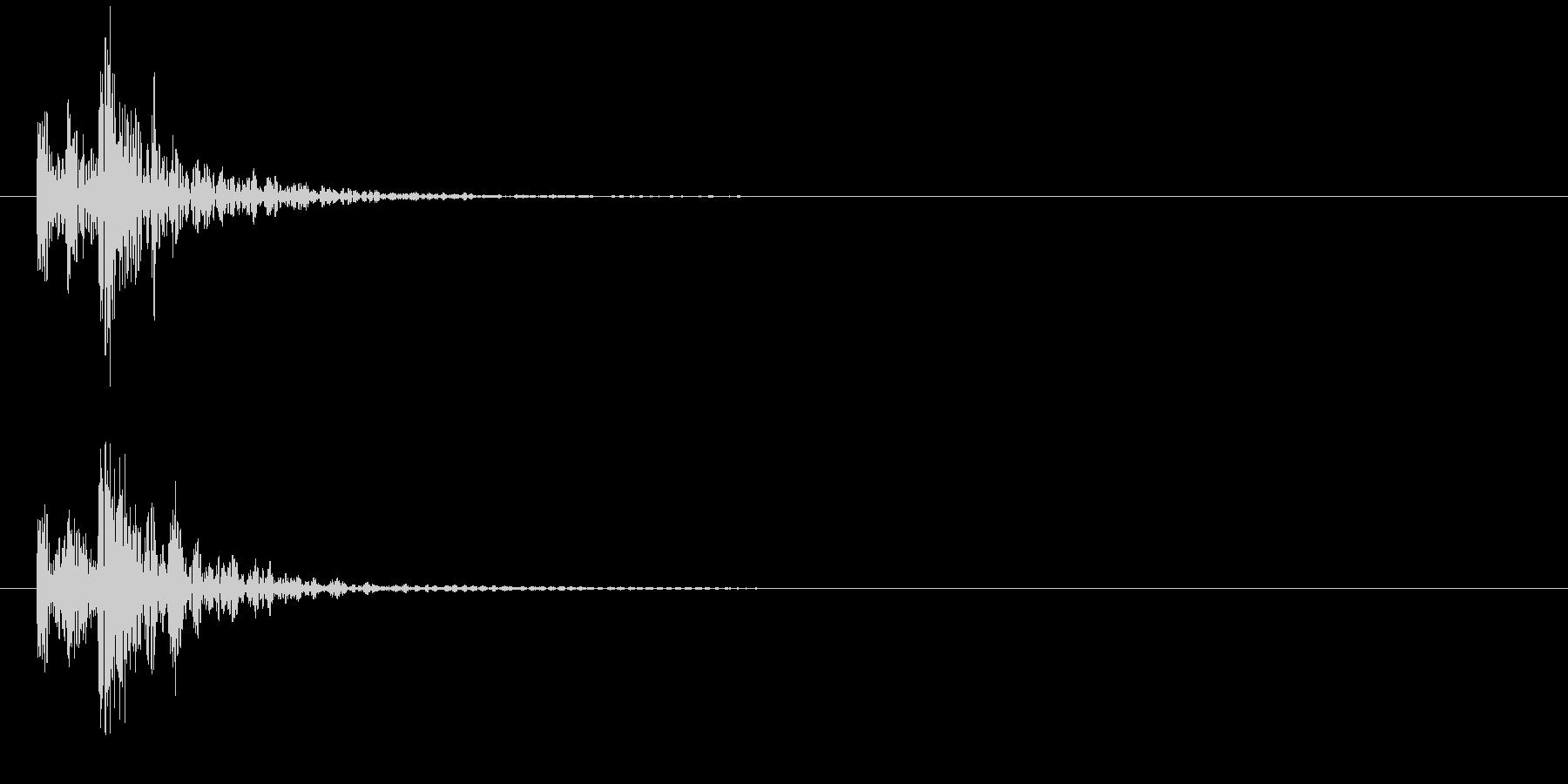 和太鼓お囃子(ドドンッ) 2の未再生の波形