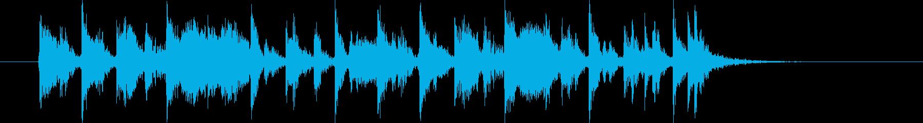 ハネた16ビートの12秒ジングルの再生済みの波形