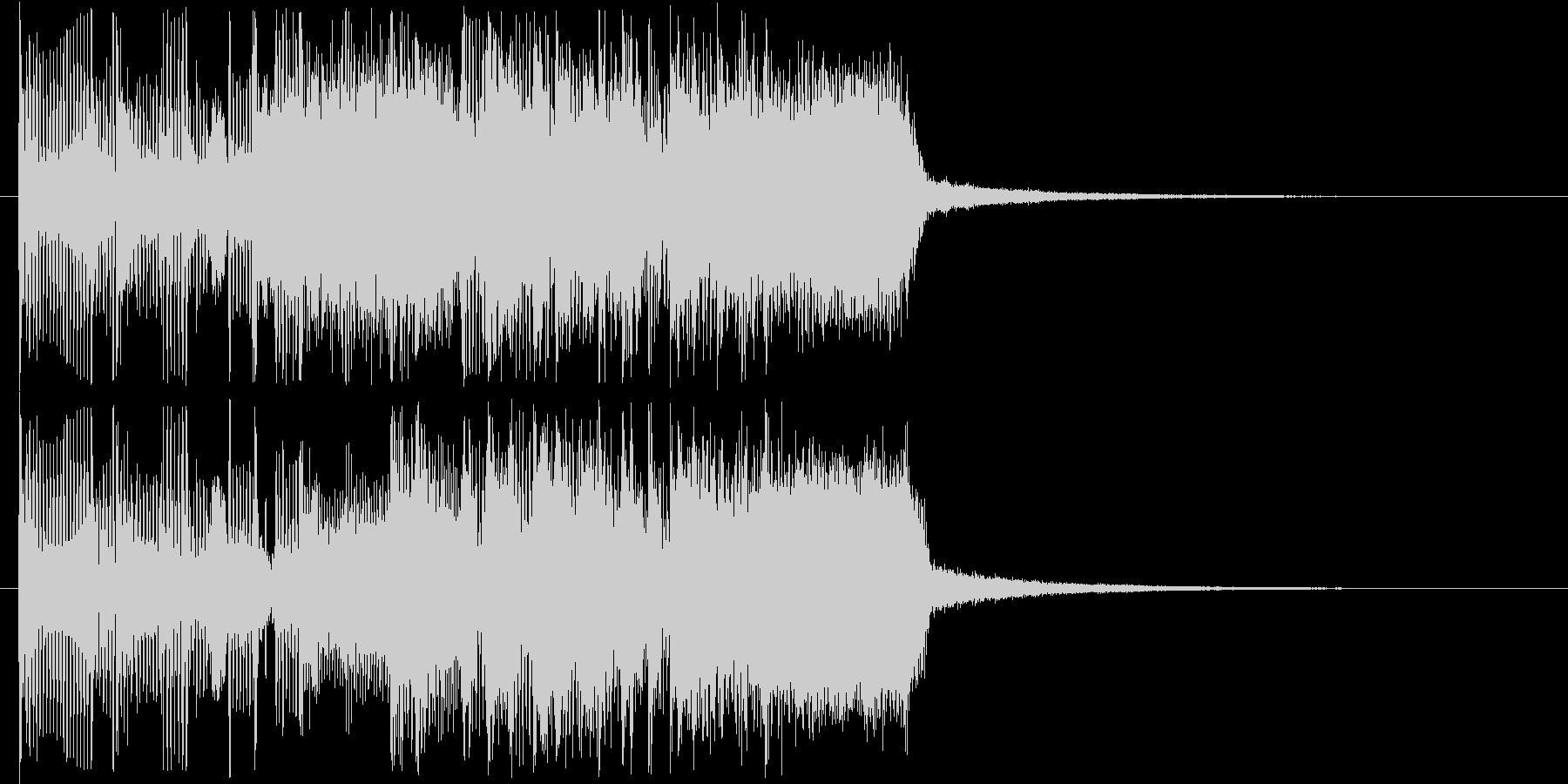 大胆で鋭いロック調メロディの未再生の波形