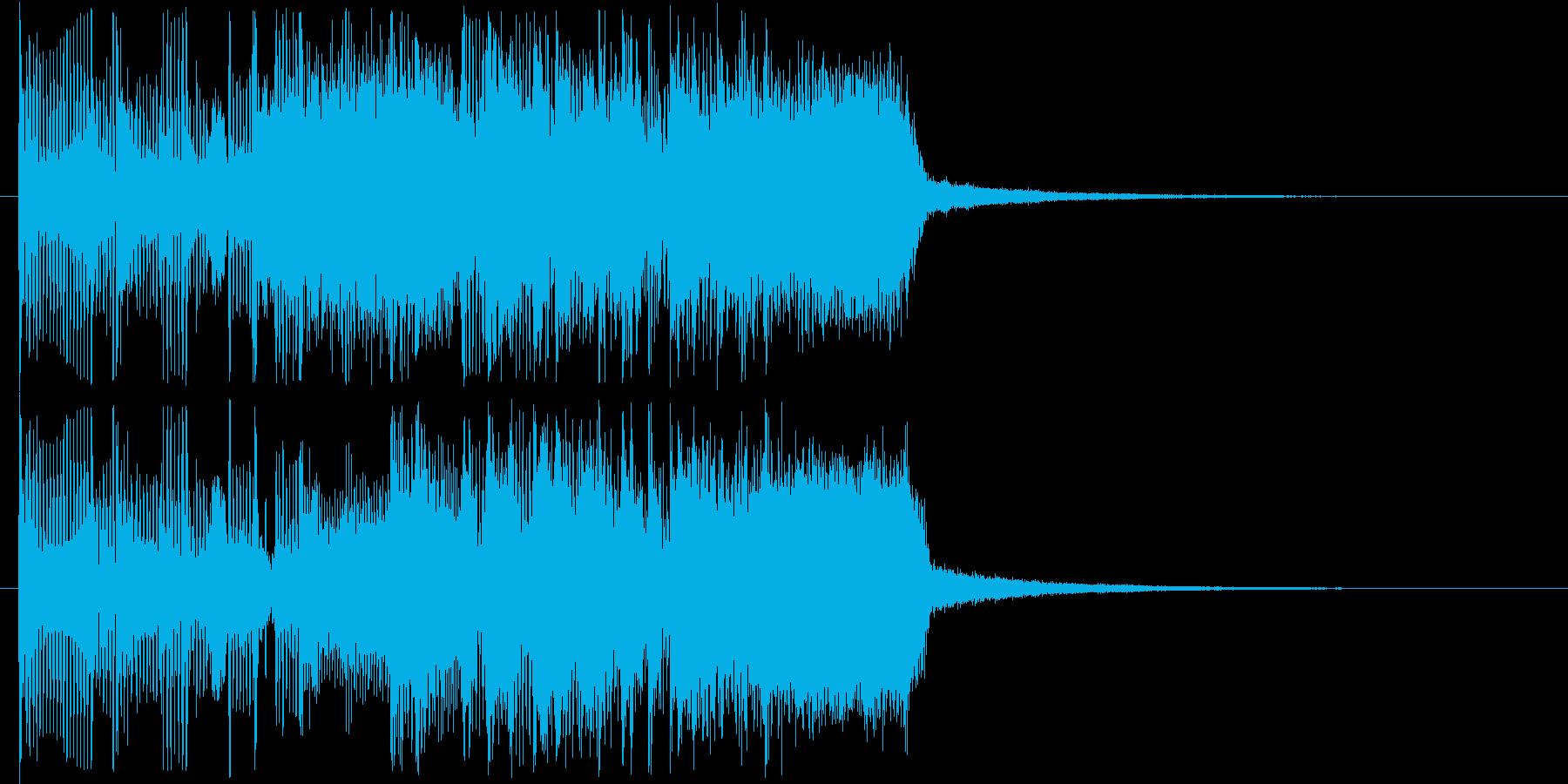 大胆で鋭いロック調メロディの再生済みの波形
