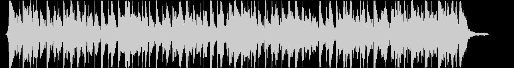 ファンキーなノリのスラップジングルの未再生の波形