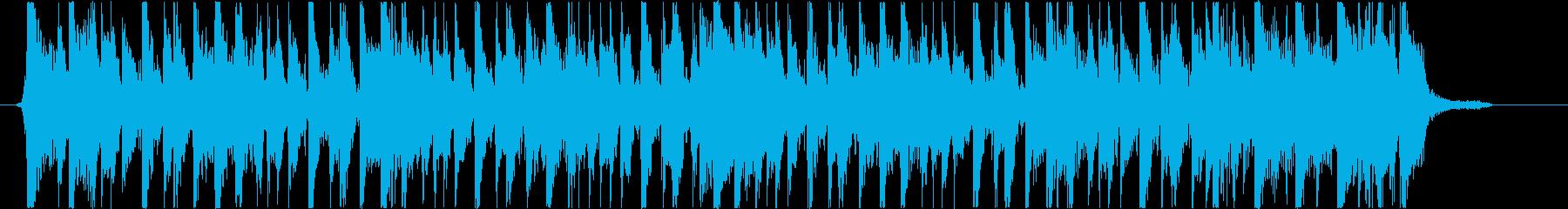 ファンキーなノリのスラップジングルの再生済みの波形