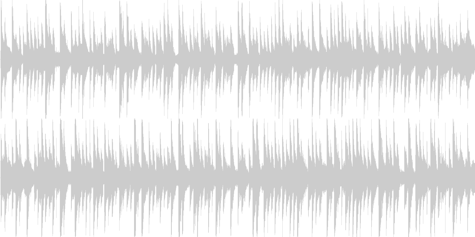 電子的な音で繰り返される楽曲です。の未再生の波形