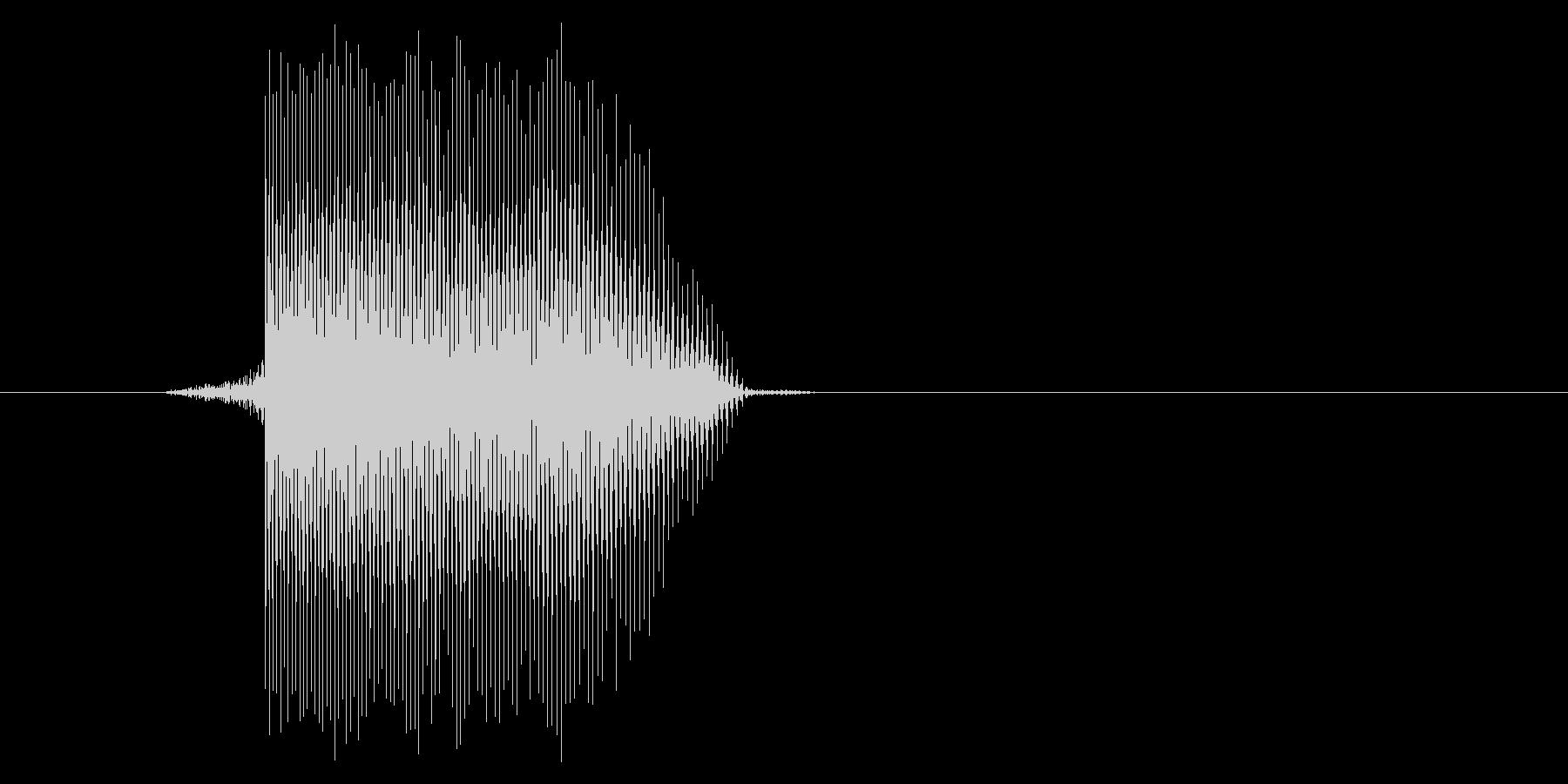 ゲーム(ファミコン風)レーザー音_037の未再生の波形