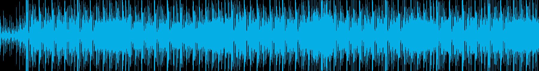宇宙ものアクションゲームを想定したBGMの再生済みの波形