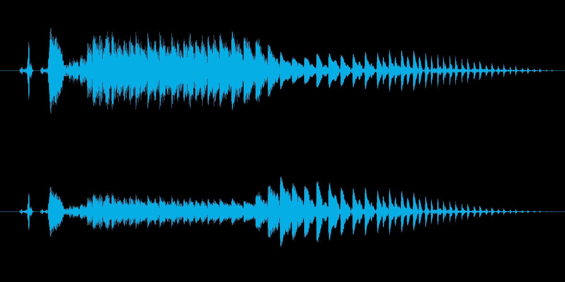ポイ〜ン!コミカルで間抜けな効果音です!の再生済みの波形