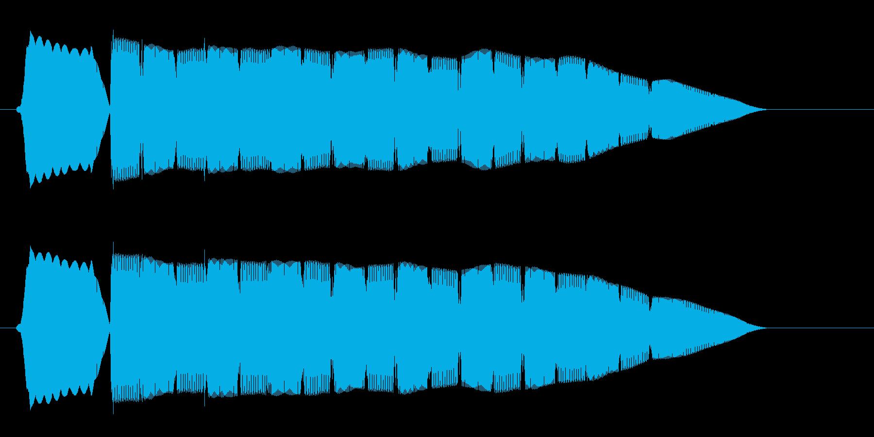 ピョョョョョ(かわいらしい警告音)の再生済みの波形