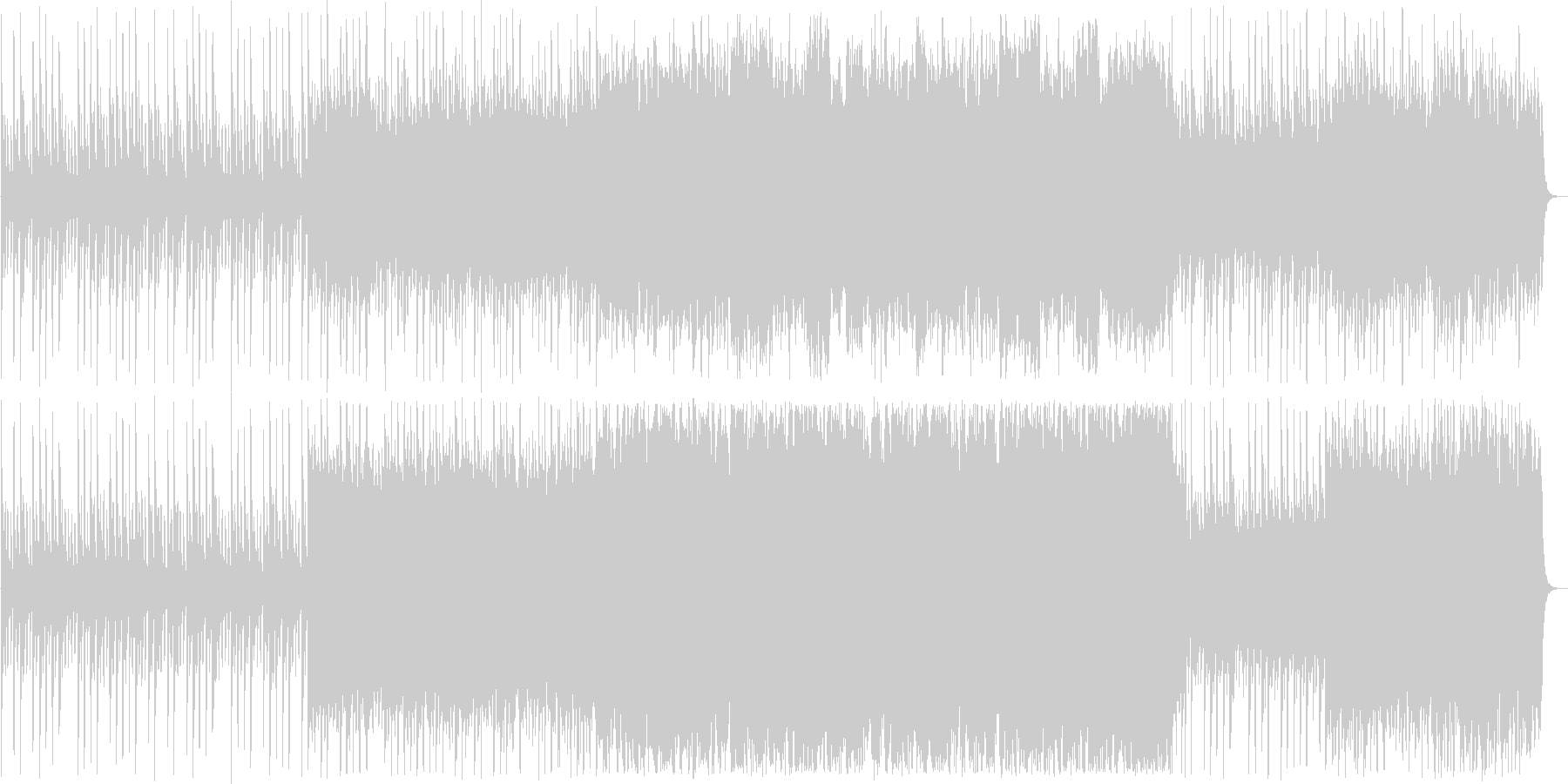 ドラマティックなシンセ・ピアノサウンドの未再生の波形