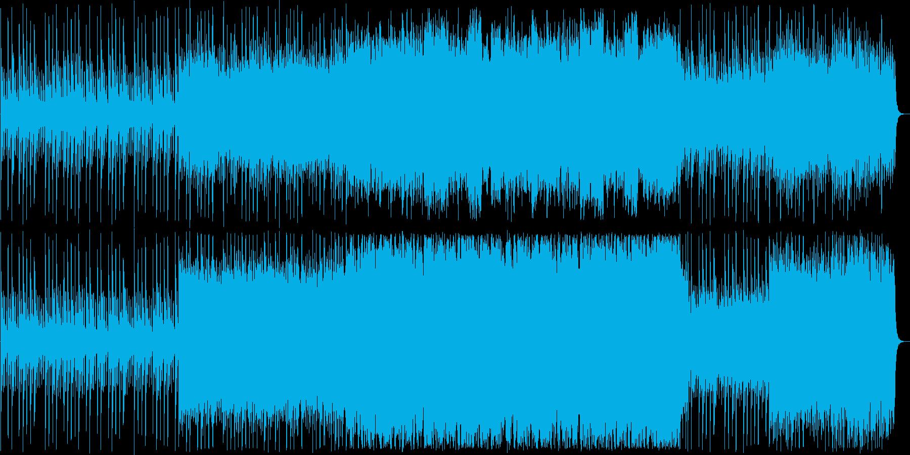 ドラマティックなシンセ・ピアノサウンドの再生済みの波形