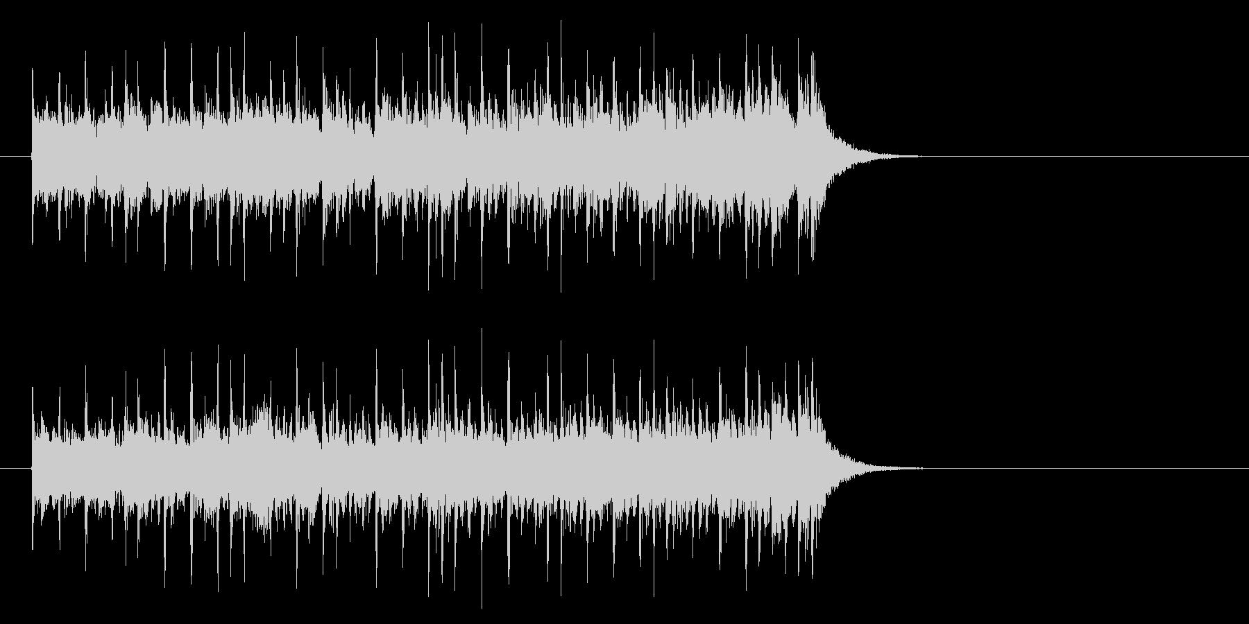 軽快なテクノ・ポップ(イントロ)の未再生の波形