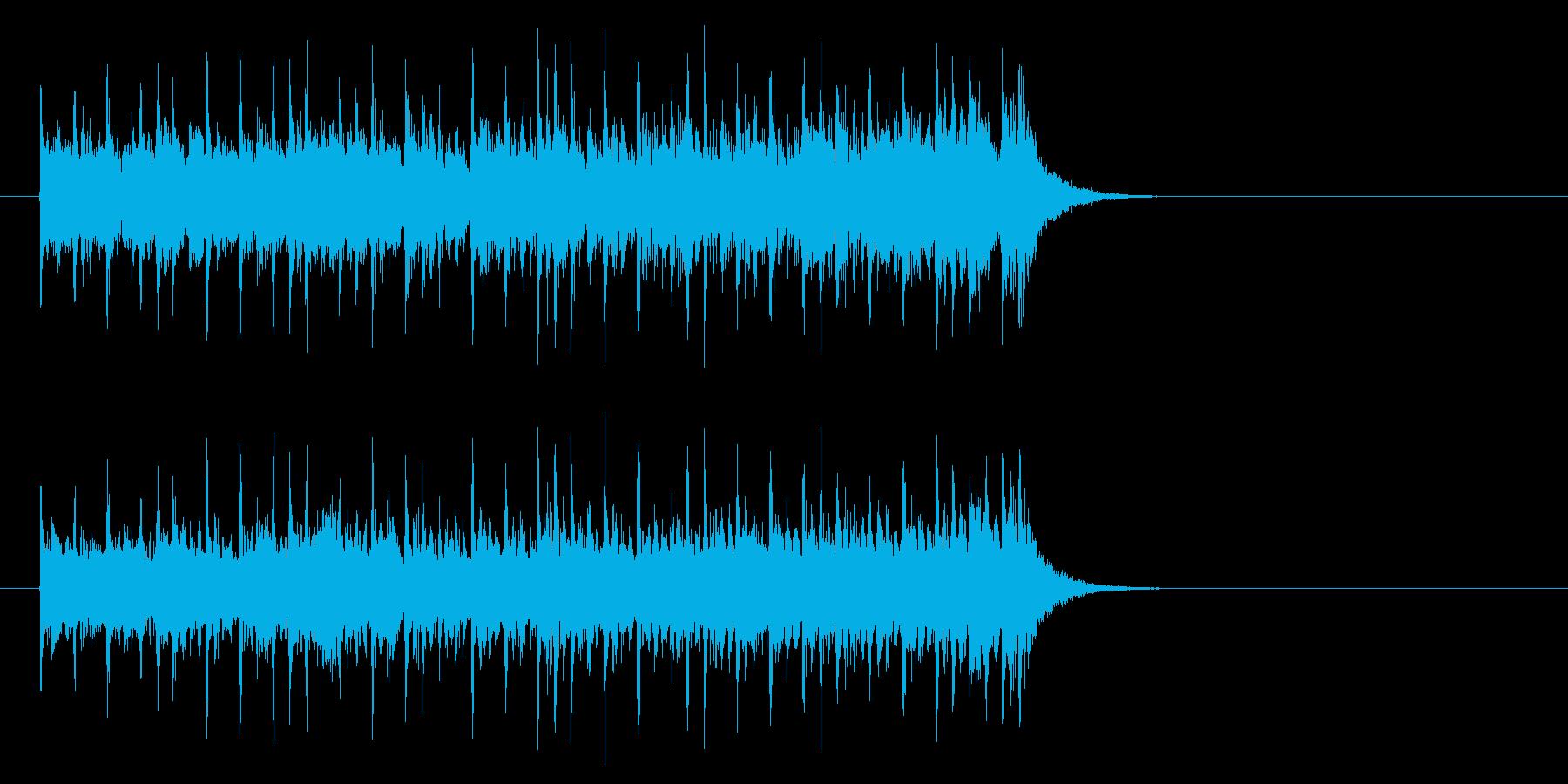 軽快なテクノ・ポップ(イントロ)の再生済みの波形