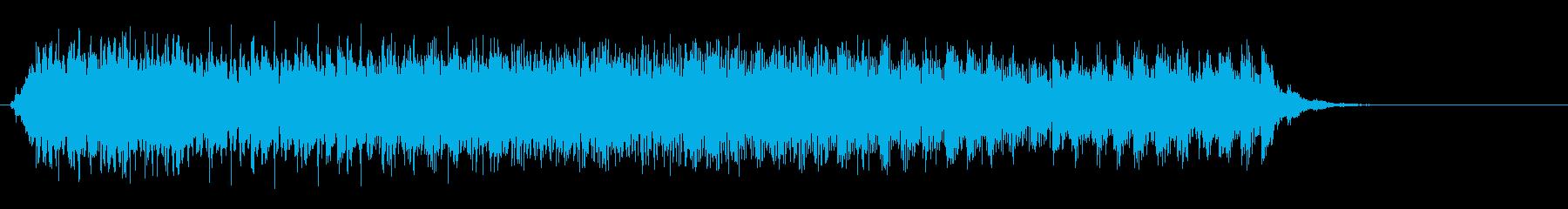 スウィープ音(アップ)の再生済みの波形