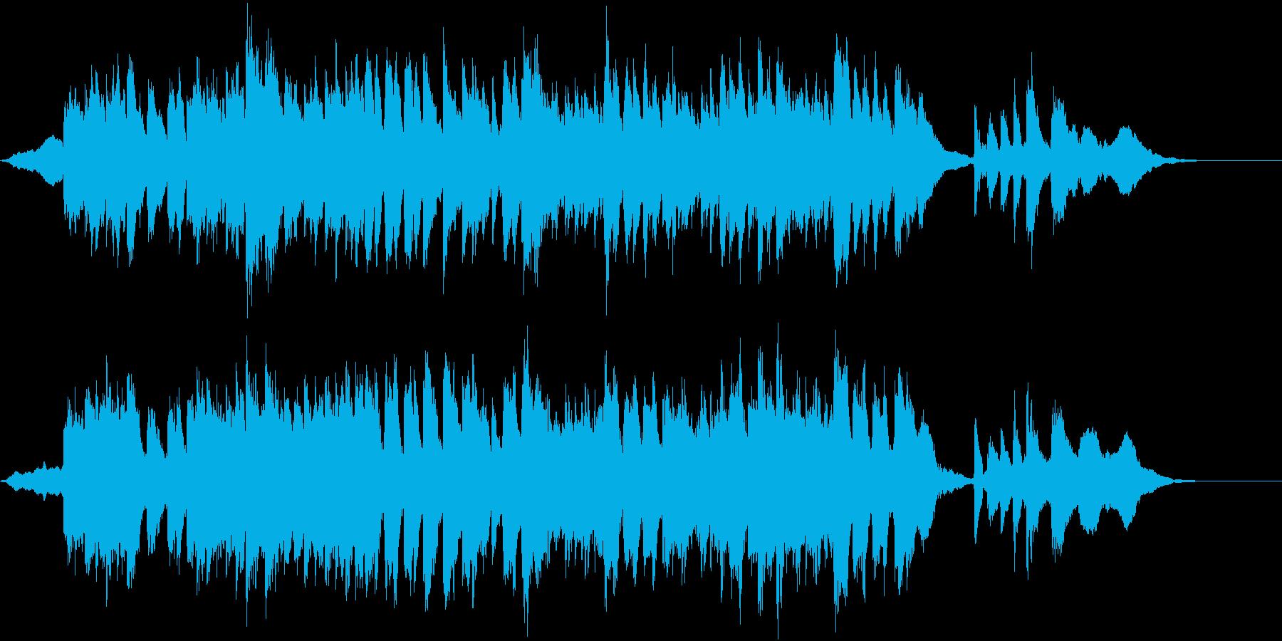 楽しく平和なイメージのCM向けの再生済みの波形