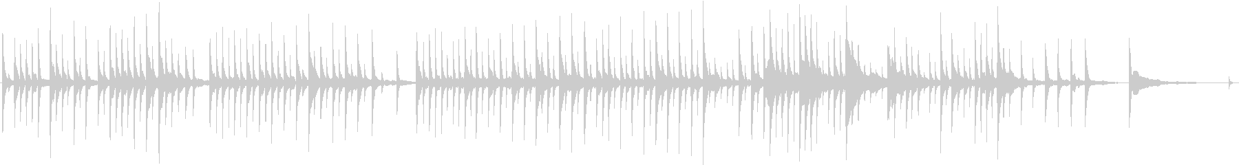 クリスマス 星 赤ちゃん ■ ピアノソロの未再生の波形