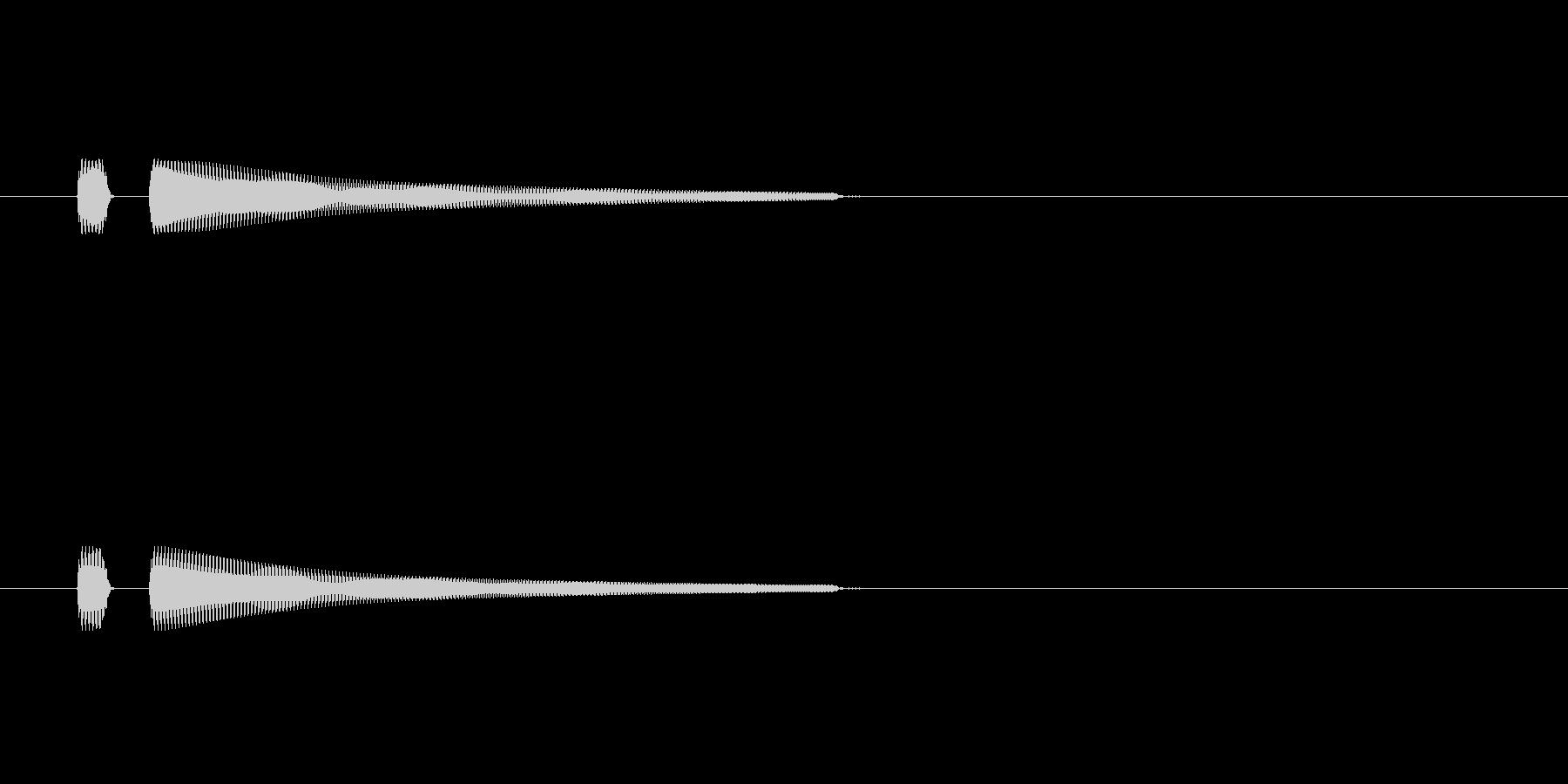 ピン 短いボタン系の音の未再生の波形