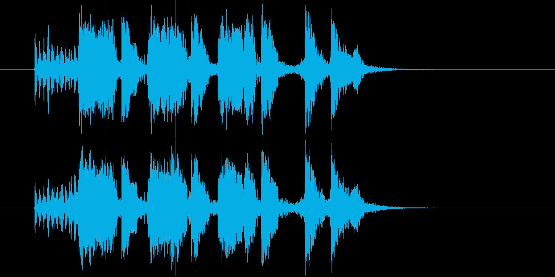 コミカルさを徐々に強調するポップスの再生済みの波形