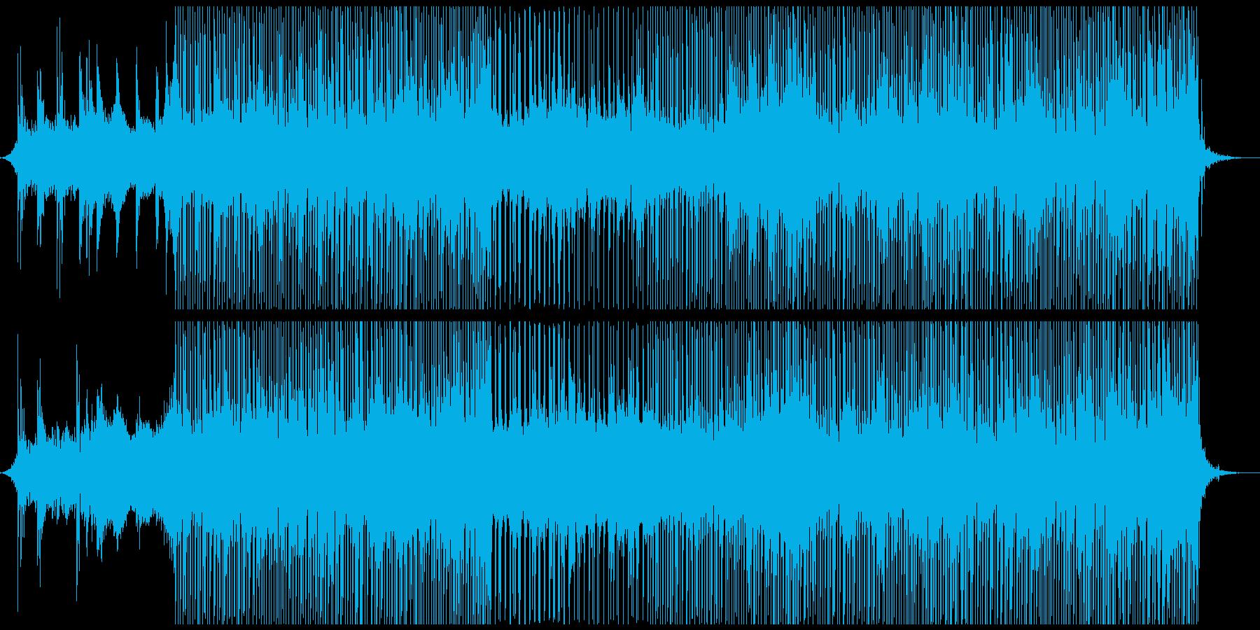 何かが始まるスペーシーでファットな曲の再生済みの波形