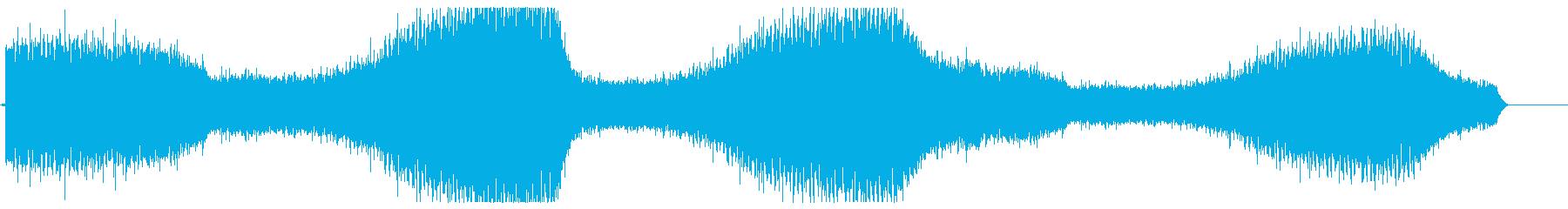 ミーンミーン(蝉の鳴き声)の再生済みの波形