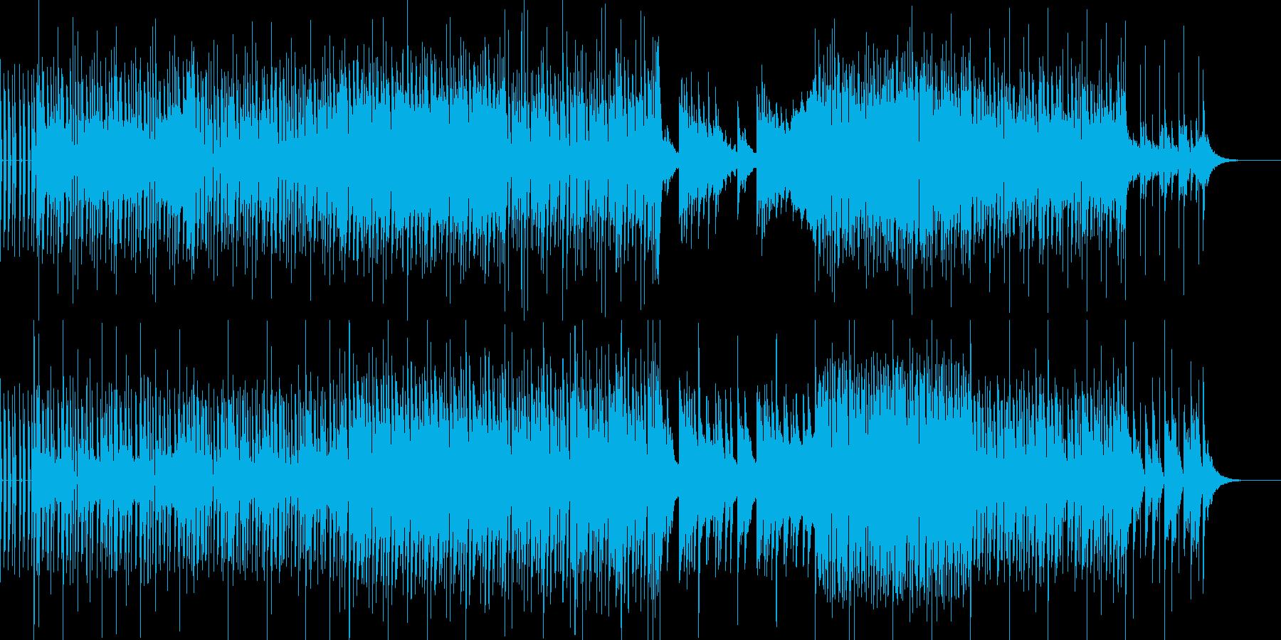 清々しく切なく健気な雰囲気の曲の再生済みの波形