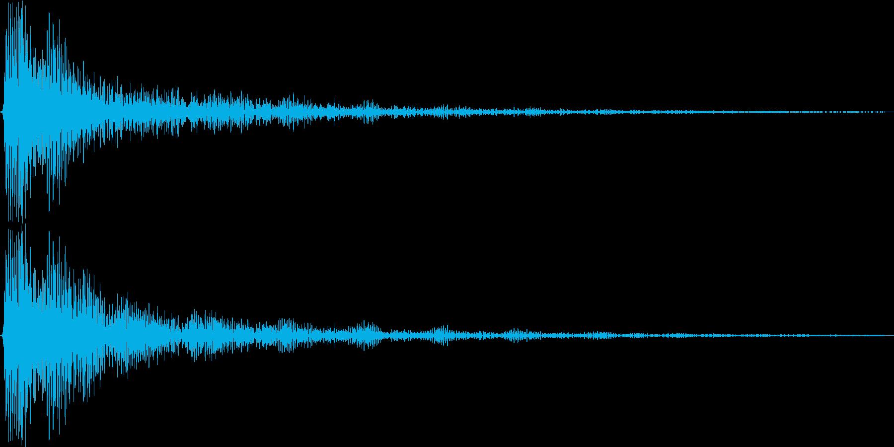 ダン。ショック・衝撃を受けた音(高)の再生済みの波形