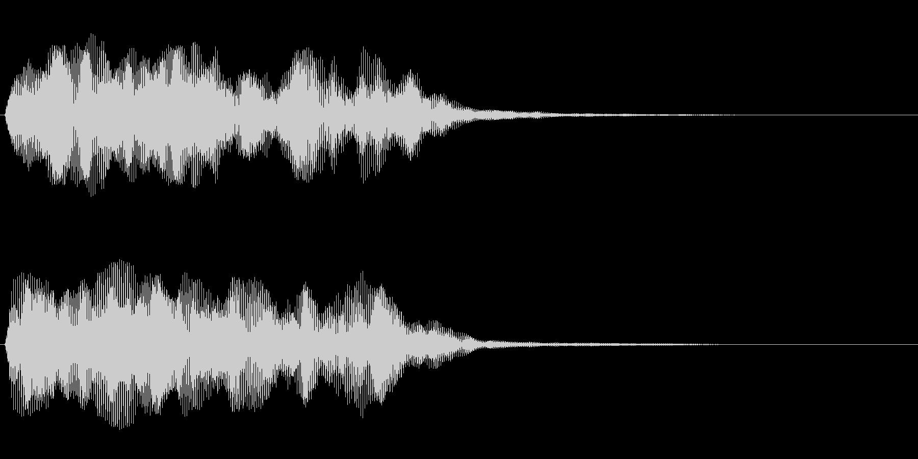 ボーという音をノイズで包んだような音の未再生の波形