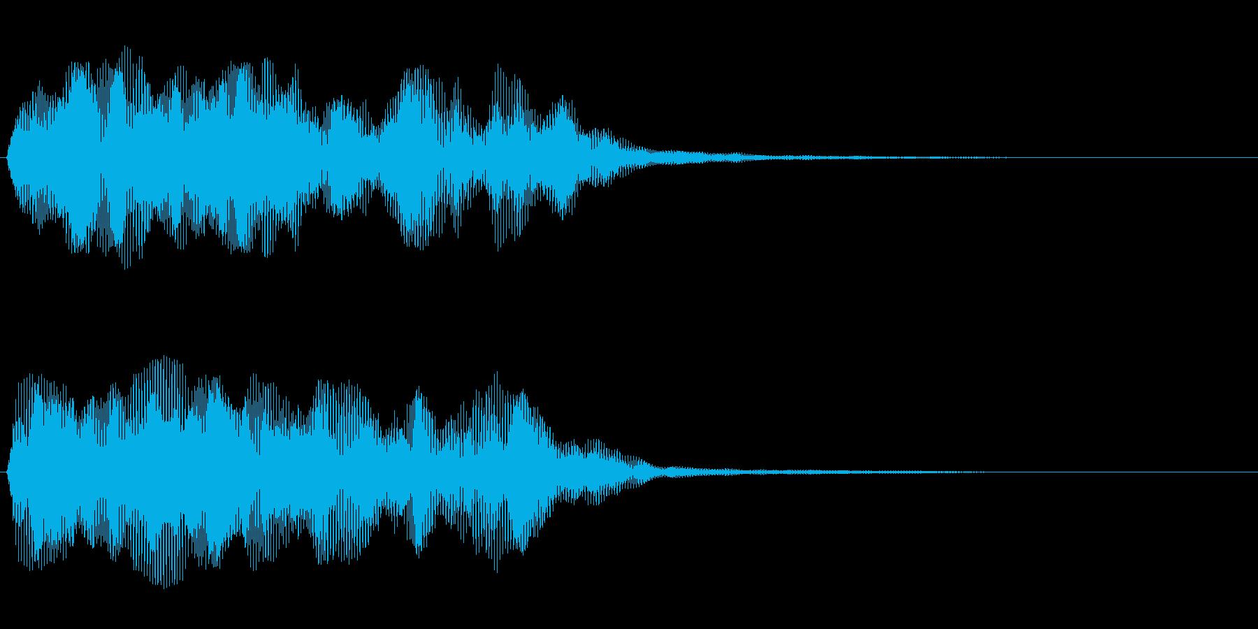 ボーという音をノイズで包んだような音の再生済みの波形