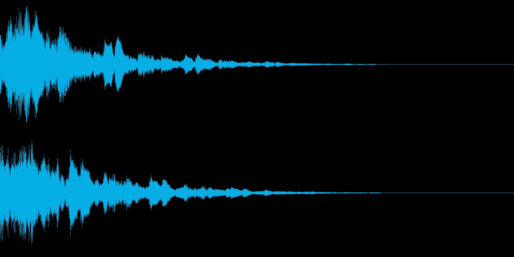 サウンドロゴ32(ベル系)の再生済みの波形