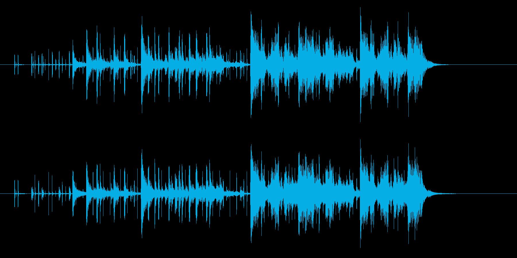 疾走感のあるテクノミュージックの再生済みの波形
