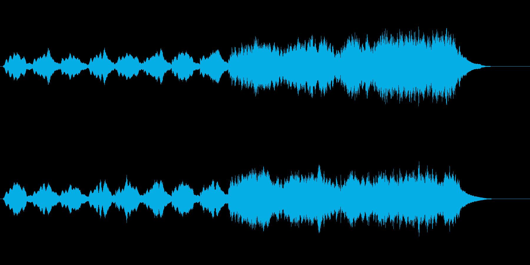 環境音楽(幻想的な雰囲気)の再生済みの波形