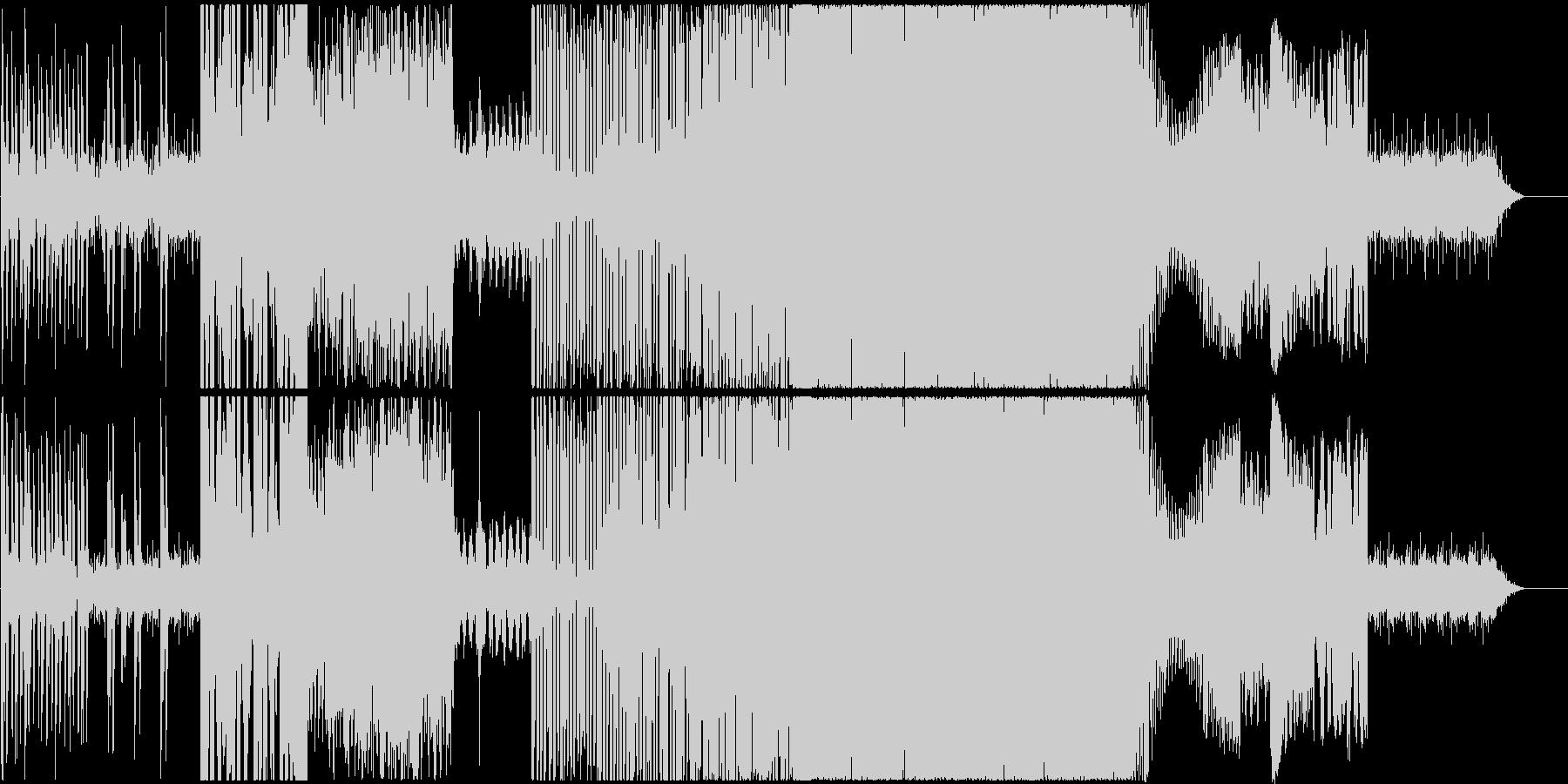 サイバー系ドラムンベース風の未再生の波形
