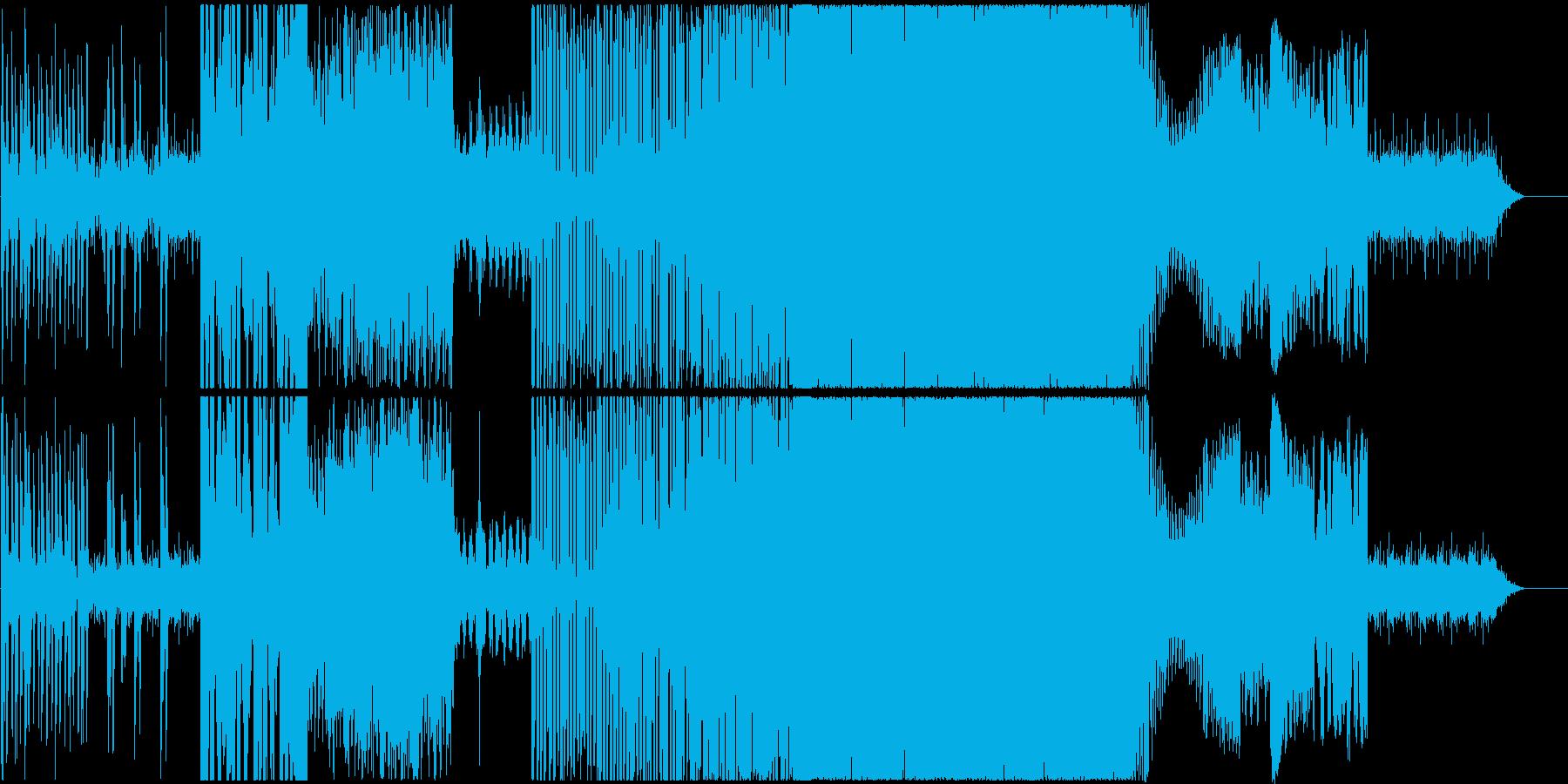 サイバー系ドラムンベース風の再生済みの波形