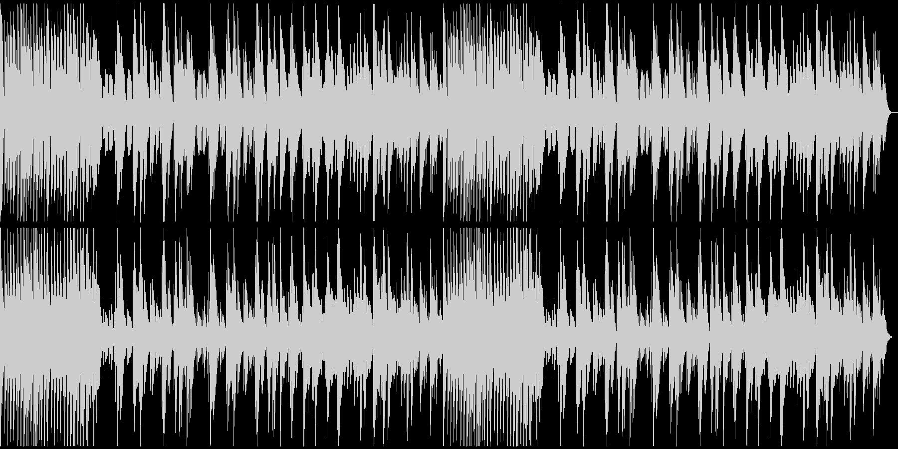 軽快なリズムのソロ・ピアノ曲の未再生の波形