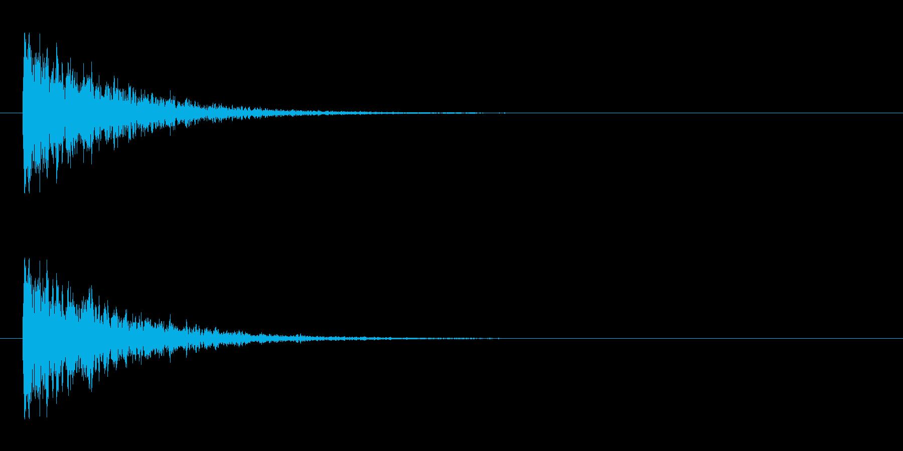【アクセント10-2】の再生済みの波形