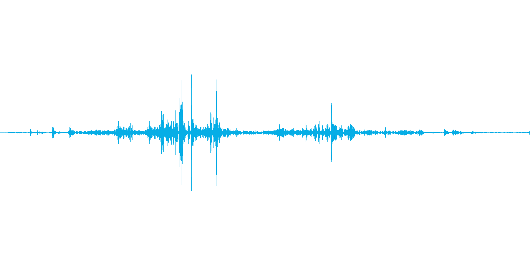 【wav】封筒に書類を出入れする音_01の再生済みの波形