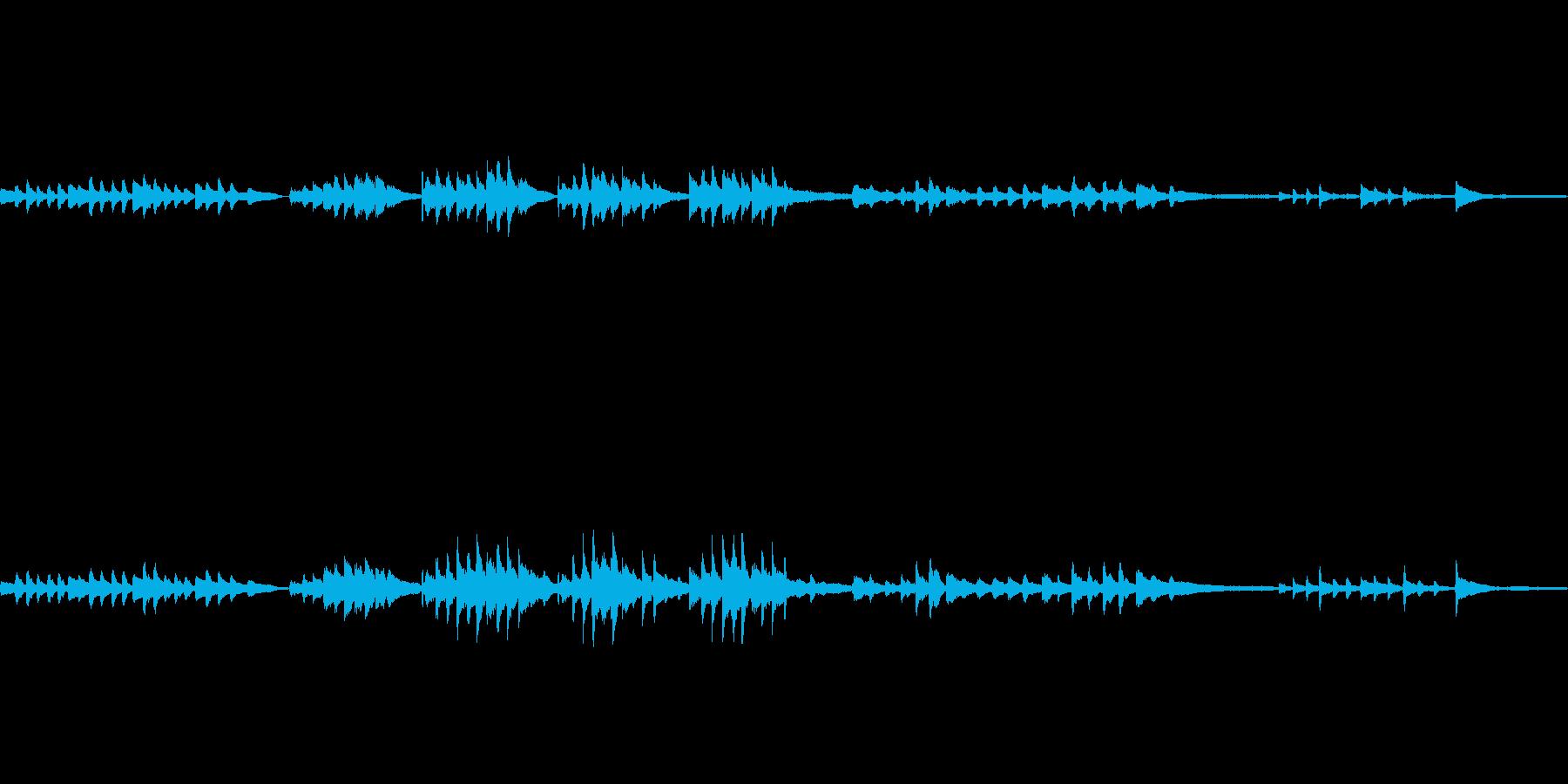ほのぼの穏やかなピアノソロBGMの再生済みの波形