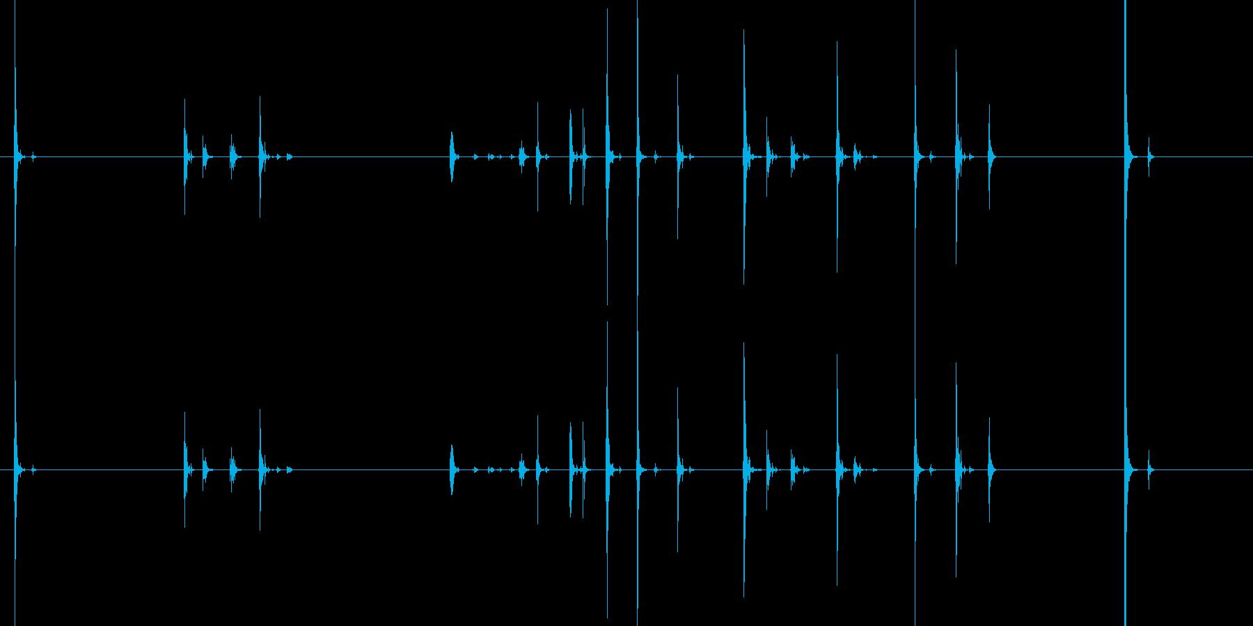 【キータイプ】ノートパソコンキーボードの再生済みの波形