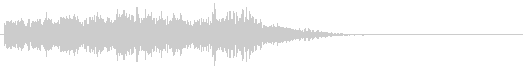 ポップな感じのサウンドロゴの未再生の波形