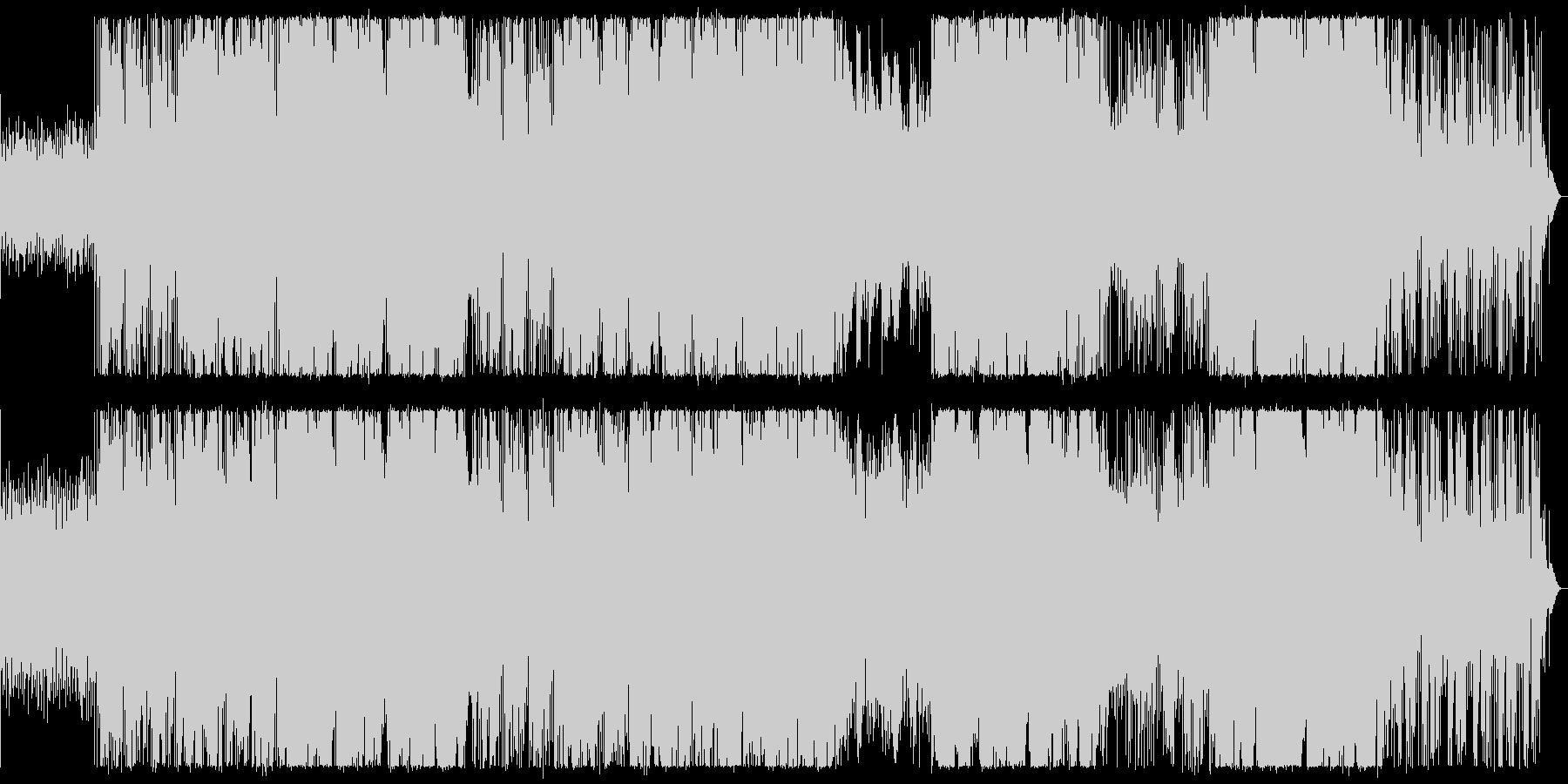 ブラスがアクセントのアクティブな曲の未再生の波形