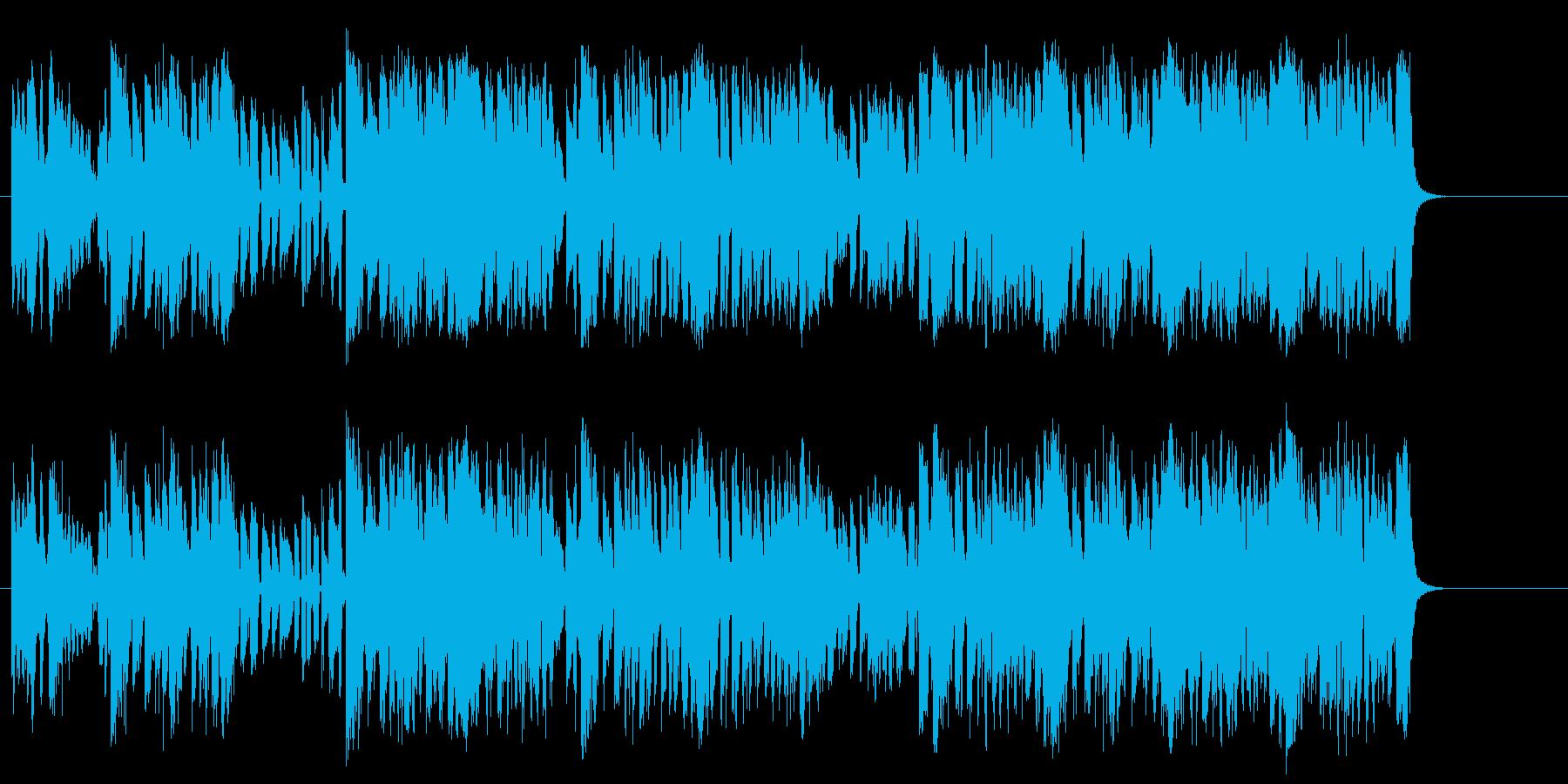クラブの若者を描いたファンク/テクノの再生済みの波形