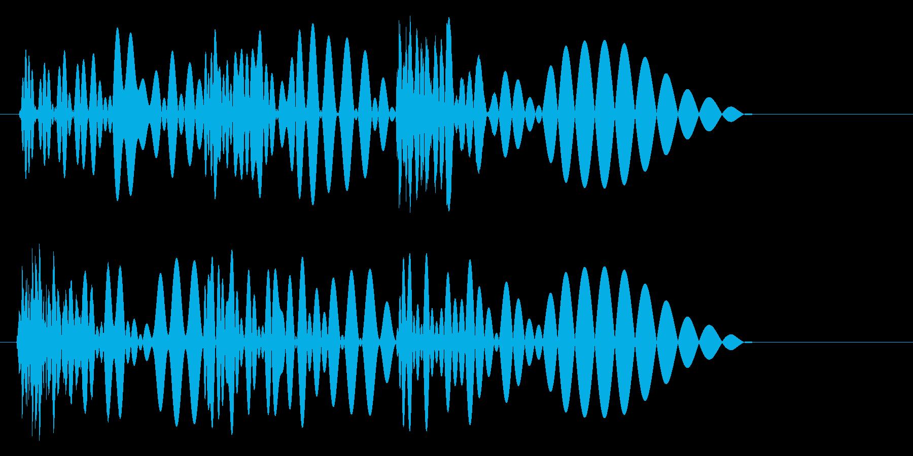 トゥクトゥン(ドドパン)の再生済みの波形