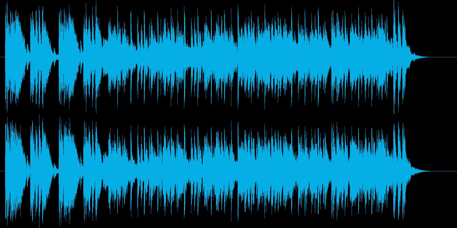激しくテンションアップの音楽の再生済みの波形