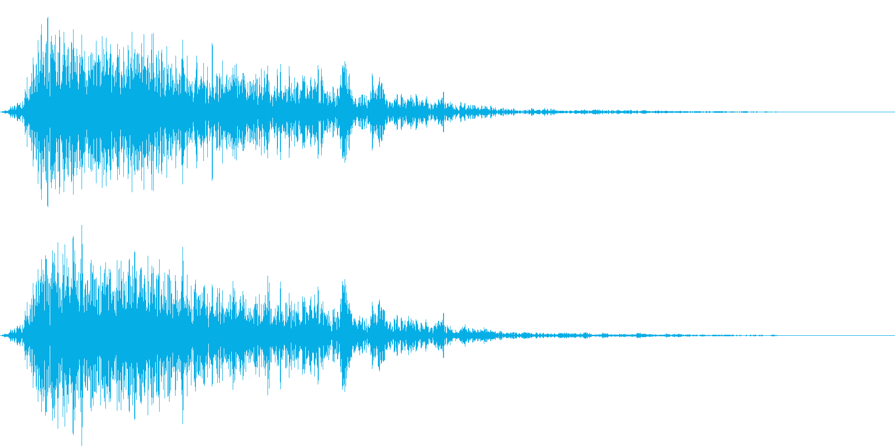 Animal ゾンビのような猛獣の声の再生済みの波形