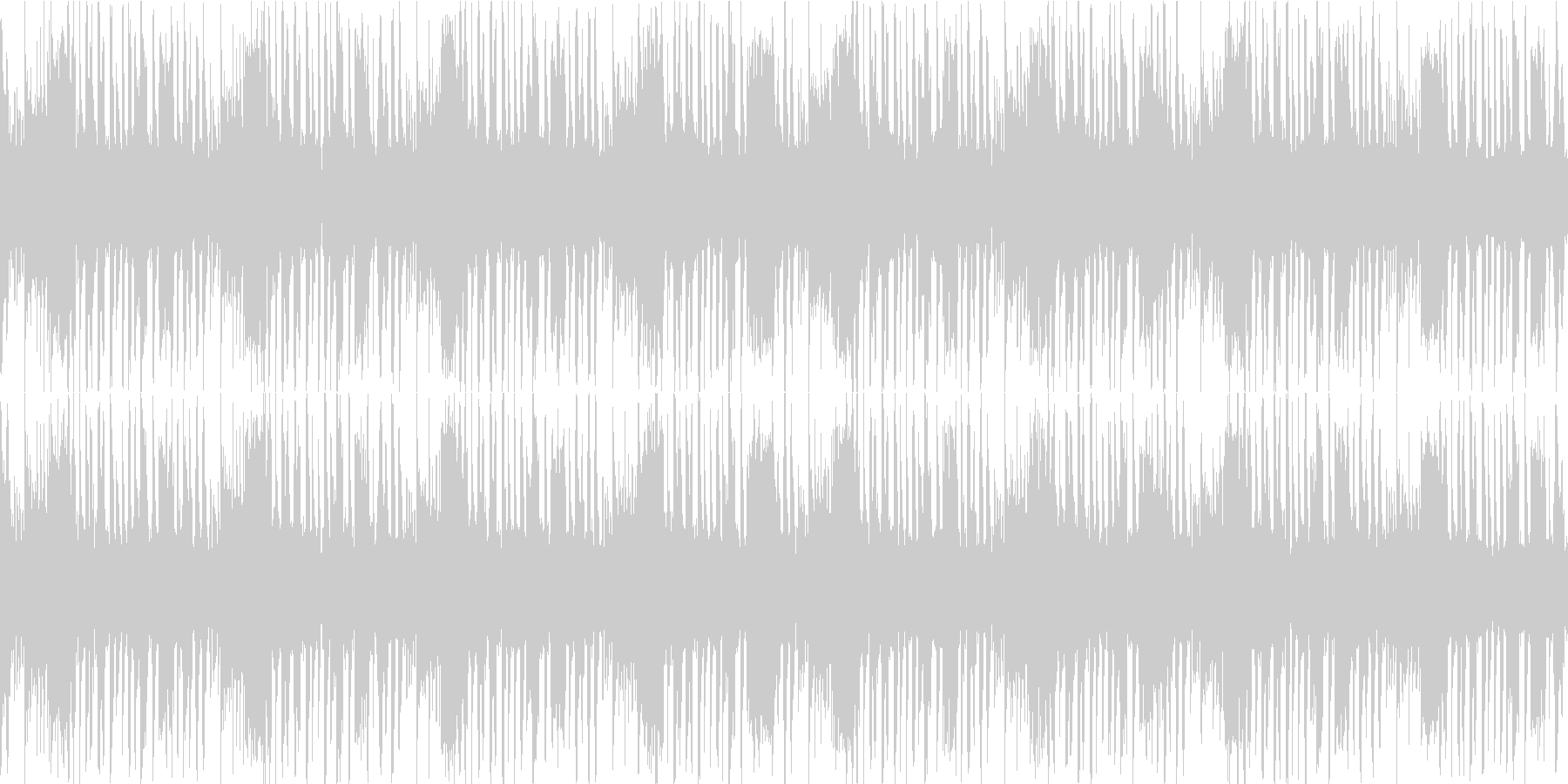 潜水っぽい音が特徴のループ。の未再生の波形