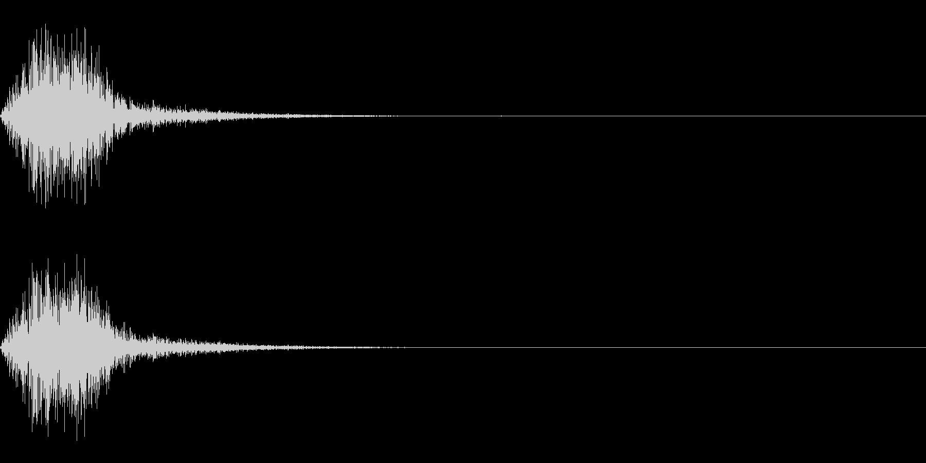 スイング/バット/振る/ブンッ/ジャンプの未再生の波形