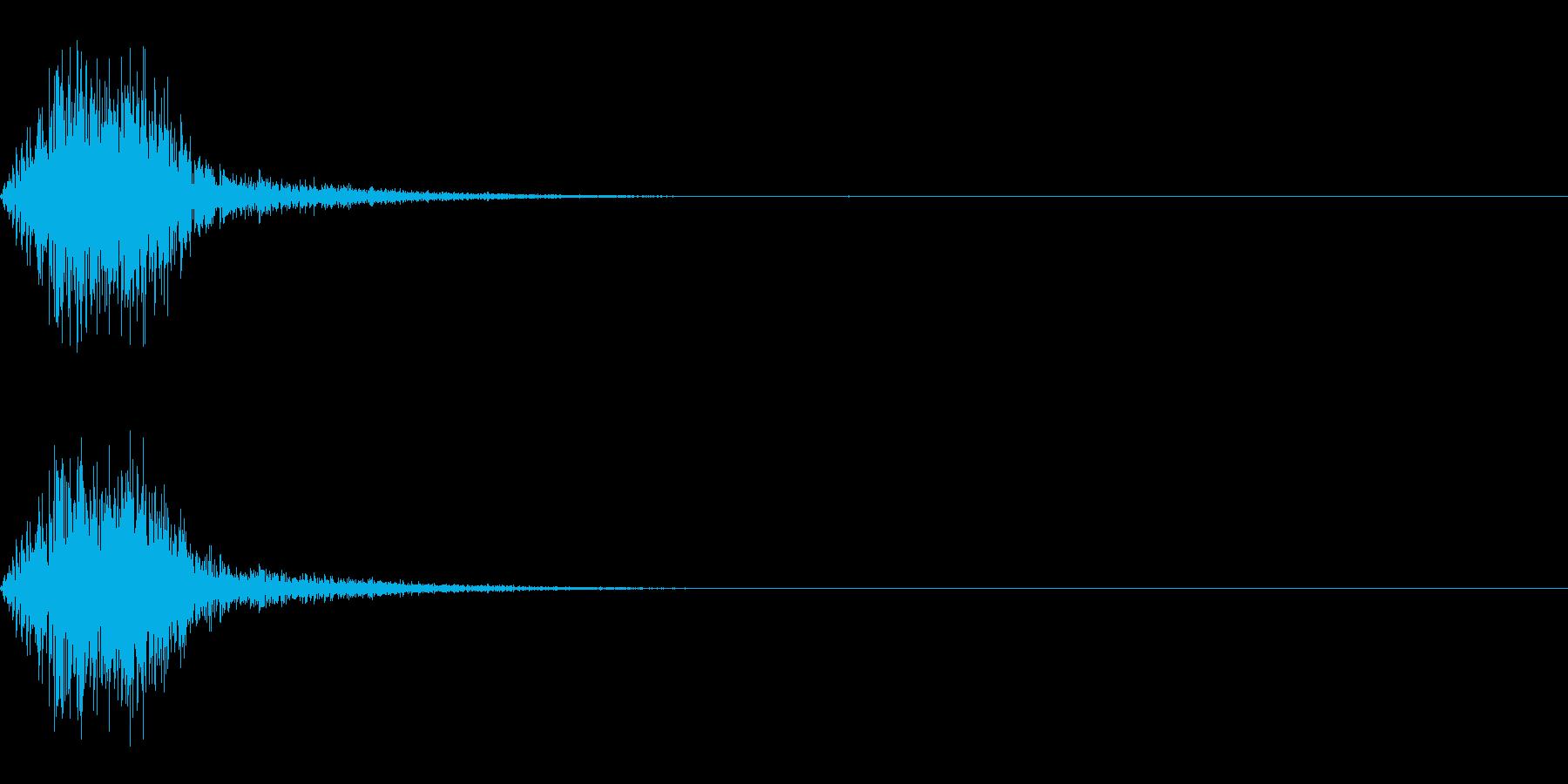 スイング/バット/振る/ブンッ/ジャンプの再生済みの波形